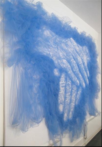 نقاشی با اتو بر روی پارچه ابریشمی